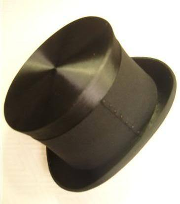 A vintage London-made silk hat with mourning band 76b6f8a24b71